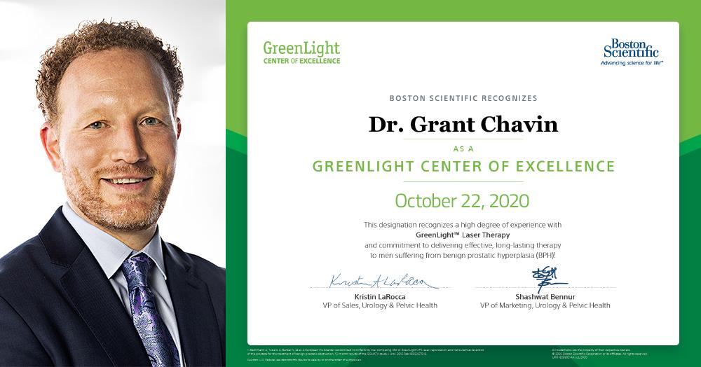 Dr. Grant Chavin Greenlight Center of Excellence