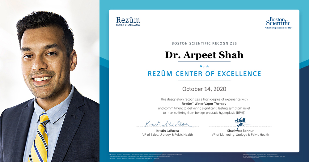 Dr. Arpeet Shah, Rezum Center of Excellence